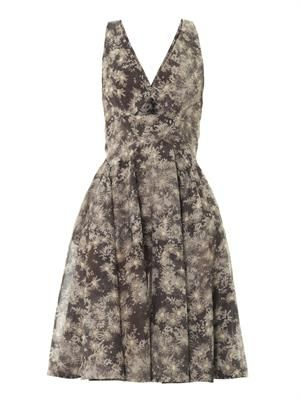 Daisy-print cotton dress