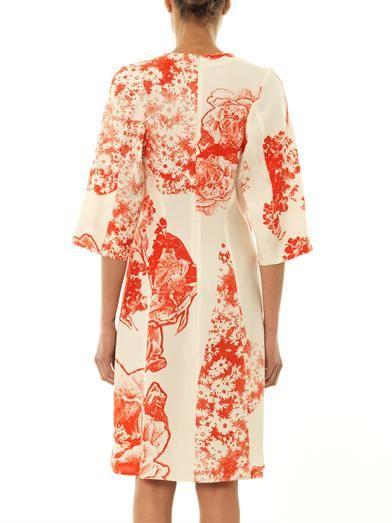 Stella McCartney Celia patchwork-print silk dress