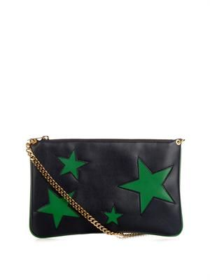 Cavendish faux-leather clutch