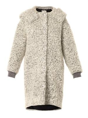 Clara mohair and wool-blend bouclé coat