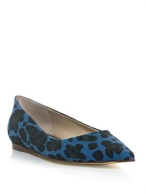 Gwen animal-print point-toe flats