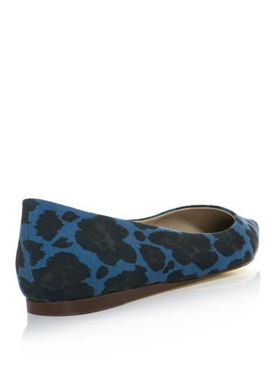 Stella McCartney Gwen animal-print point-toe flats