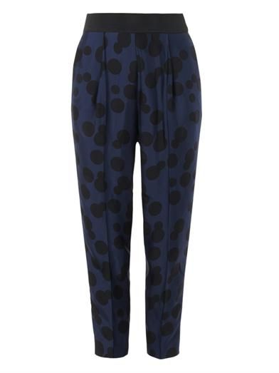 Stella McCartney Charlotte polka-dot-jacquard trousers
