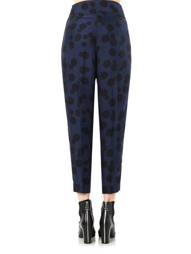 Stella McCartney Charlotte polka-dot-jacquard trousers