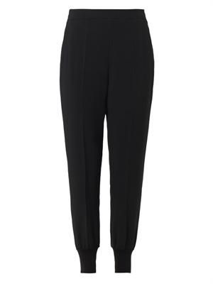 Julia tapered-leg crepe trousers