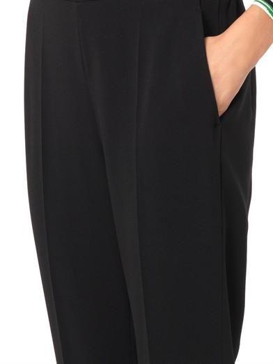 Stella McCartney Julia tapered-leg crepe trousers