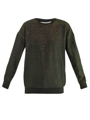 Lurex crew-neck sweater
