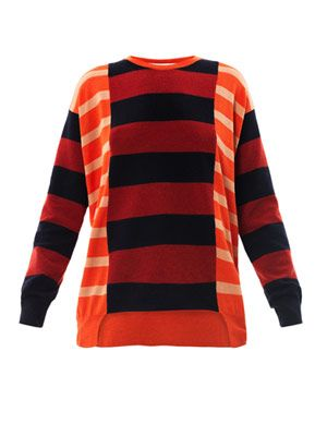 Colour-block stripe sweater