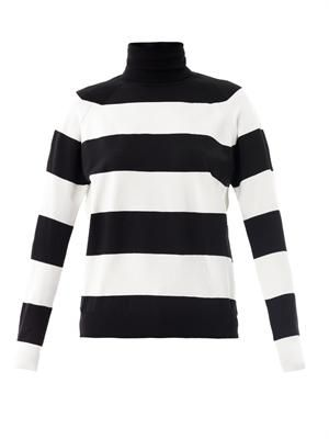 Stripe roll-neck sweater