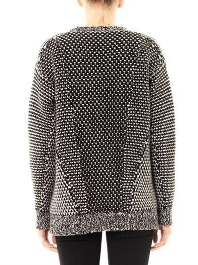 Stella McCartney Monochrome angora-wool sweater
