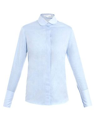 Valentina herringbone cotton shirt
