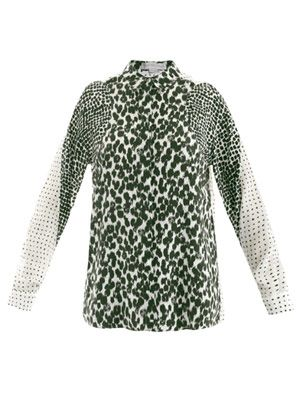 Gaia painted spot-print shirt