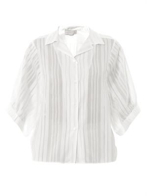 Bernie stripe cotton-silk shirt