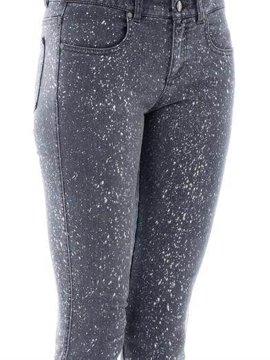 Stella McCartney Splatter-print mid-rise skinny jeans