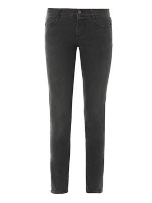 Mid-rise skinny grazer jeans
