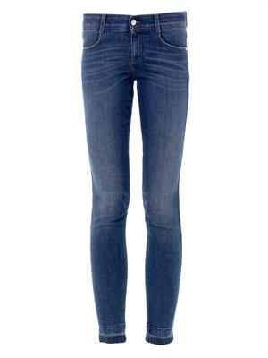 Mid-rise skinny ankle grazer jeans