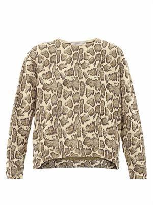 Snake jacquard sweatshirt