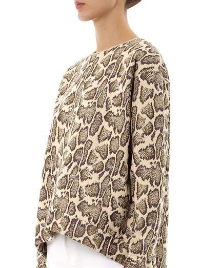 Stella McCartney Snake jacquard sweatshirt