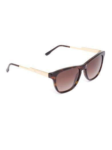 Stella McCartney Square-frame tortoiseshell sunglasses