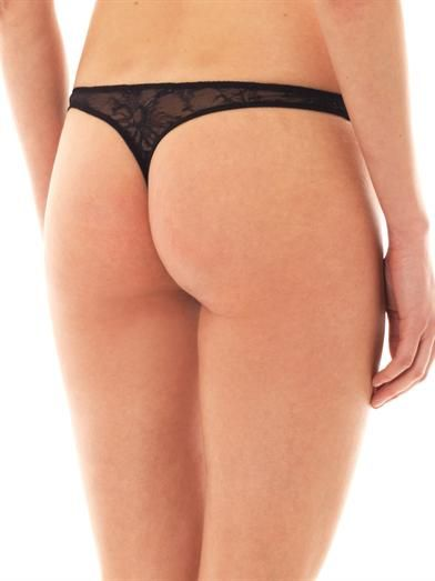 Stella McCartney Scarlett Weaving lace thong