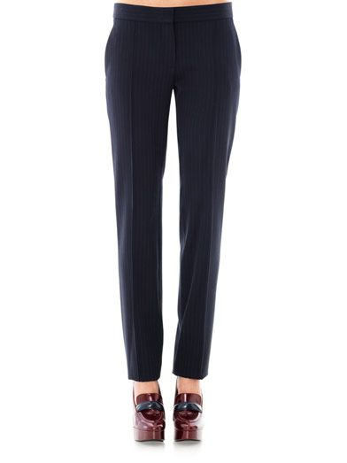 Stella McCartney Anna pinstripe trousers