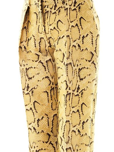 Stella McCartney Frankie snake-jacquard tailored trousers