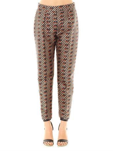 Stella McCartney Frankie matchstick-print trousers