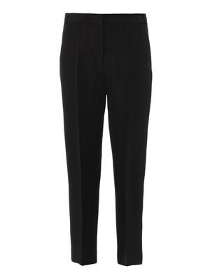 Chris snake-jacquard tailored trousers