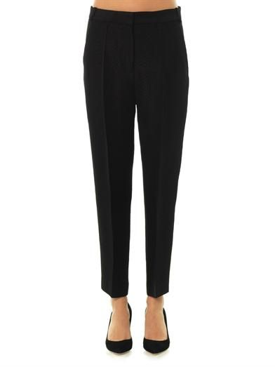 Stella McCartney Chris snake-jacquard tailored trousers