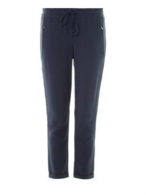 Taylor crepe relaxed-fit trousers