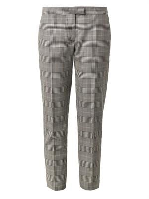 Dorrit dog's-tooth tailored trousers