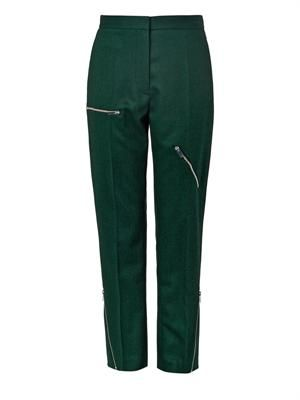 Bob wool-blend zip trousers