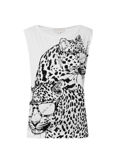 Stella McCartney Flocked Pantha-print T-shirt