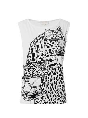 Flocked Pantha-print T-shirt