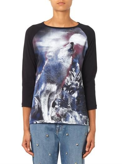 Stella McCartney Howling Wolf-print T-shirt