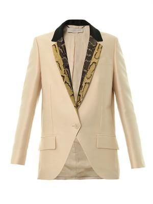 Rhae contrast-lapel jacket