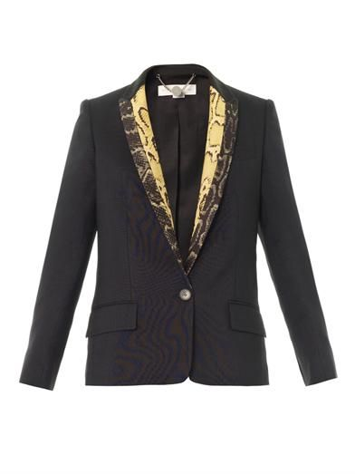 Stella McCartney Velicia silk-wool jacket