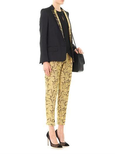 Stella McCartney Velicia silk-wool jacket