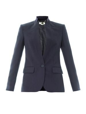 Floris textured-wool tailored jacket