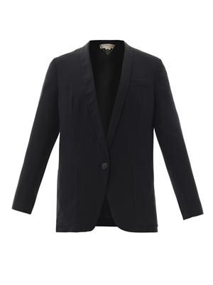 Bartlett silk-crepe tailored jacket