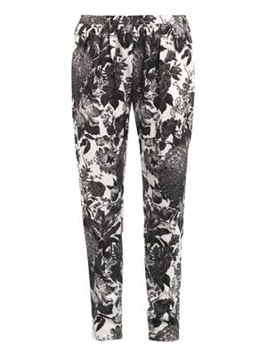 Christine flower-print trousers