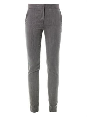 Velez micro-tweed trousers