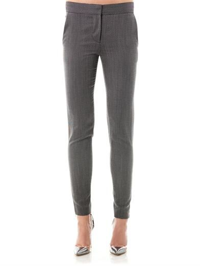 Stella McCartney Velez micro-tweed trousers