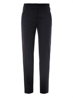 Delphine contrast piping trousers