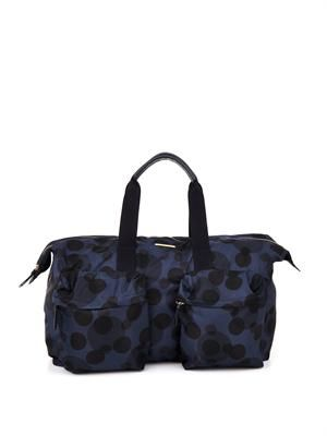 Polka-dot weekend bag