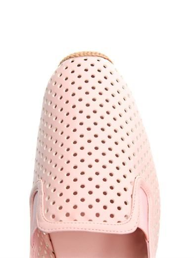 Stella McCartney Perforated faux-leather espadrilles