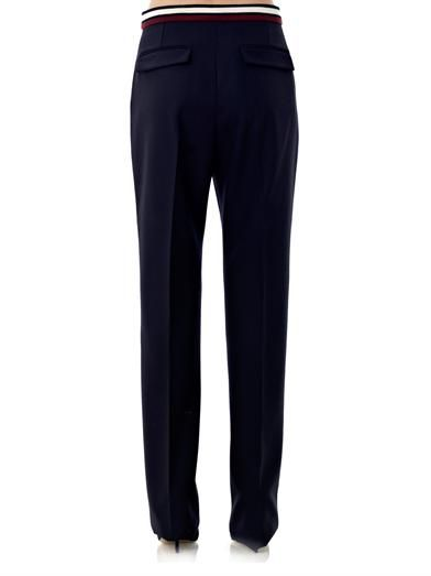 Stella McCartney Cyrille wool tux trousers