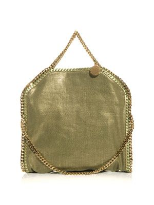 Falabella metallic linen bag