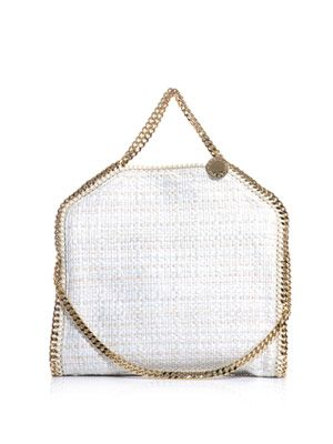 Metallic tweed Falabella bag