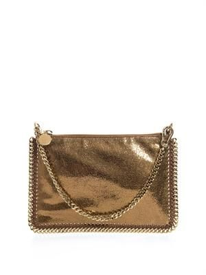 Falabella cracked-metallic bag